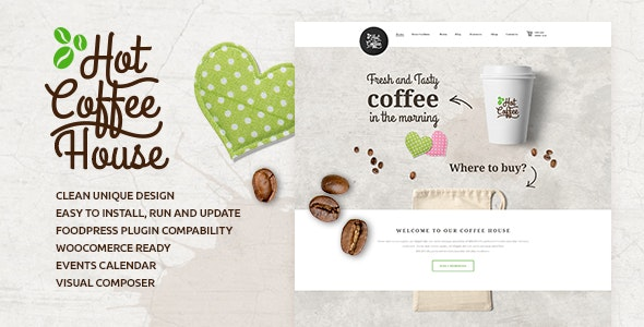 Hot Coffee | Cafe / Restaurant / Bar WordPress Theme - Restaurants & Cafes Entertainment