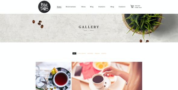 Hot Coffee | Cafe / Restaurant / Bar WordPress Theme