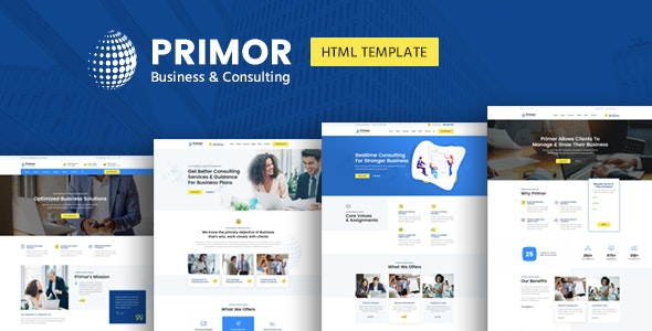 Primor - Business Consulting and Professional Services HTML Template - Business Corporate