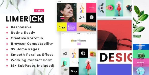 Limerick - A Colorful and Modern Multipurpose Portfolio Template - Portfolio Creative