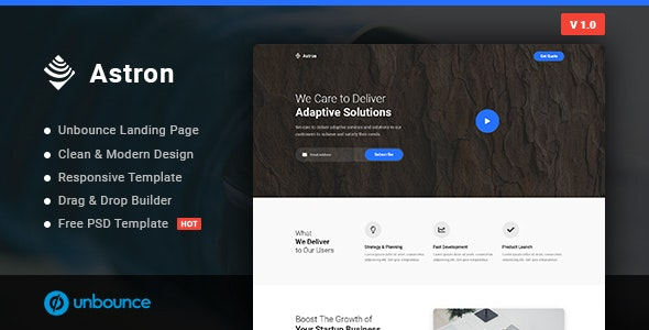 Astron - Business Unbounce Landing Page Template - Unbounce Landing Pages Marketing