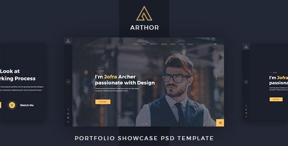 Arthor - Creative Portfolio Showcase PSD Template - Portfolio Creative