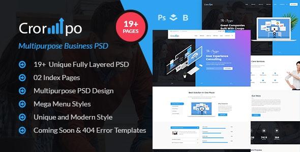 Crorpo - Multipurpose Business PSD Template - Business Corporate