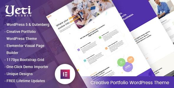 Yeti - Portfolio Responsive WordPress Theme - Portfolio Creative