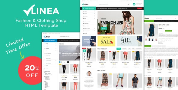 Linea - Clothing Store Responsive HTML Template - Fashion Retail