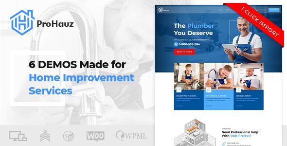 ProHauz – Handyman, Plumber WordPress Theme - Business Corporate