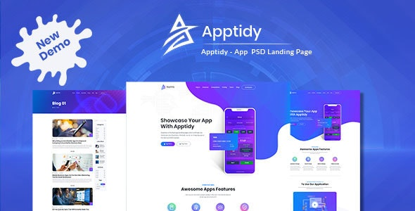 Apptidy - App Landing Page - Software Technology