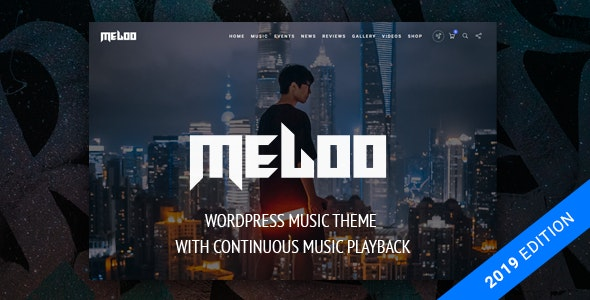 Meloo - Music Producers, DJ & Events Theme for WordPress by