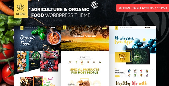 Agro - Organic Food & Agriculture WordPress Theme by
