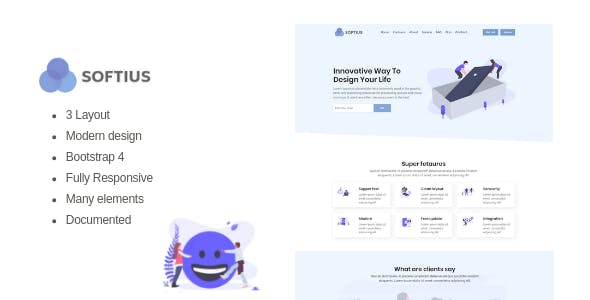Softius - Software Landing Page