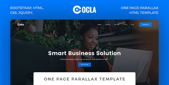 Ocla - One Page Parallax Template - Business Corporate