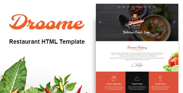 Droome - Restaurant HTML5 Template - Restaurants & Cafes Entertainment