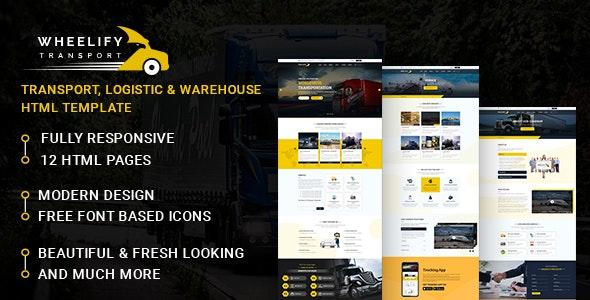 Wheelify Transport HTML Template - Business Corporate
