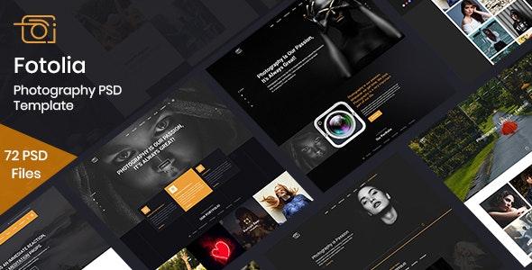 Fotolia - Multipurpose Photography Website PSD - Photography Creative