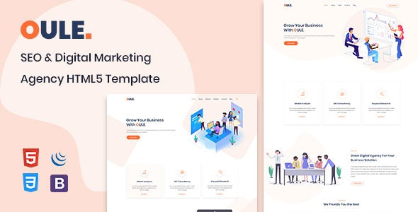 Oule - SEO and Digital Marketing Agency HTML Template - Marketing Corporate