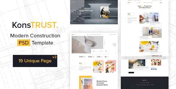 KonsTrust - Construction Building Company PSD Template - Business Corporate