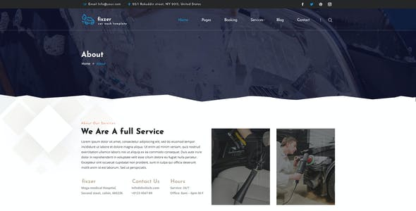 Fixzer - Car Wash & Car Repair PSD Template