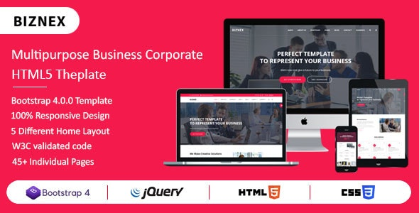 BIZNEX - Multipurpose Business And Corporate HTML5 Template - Business Corporate