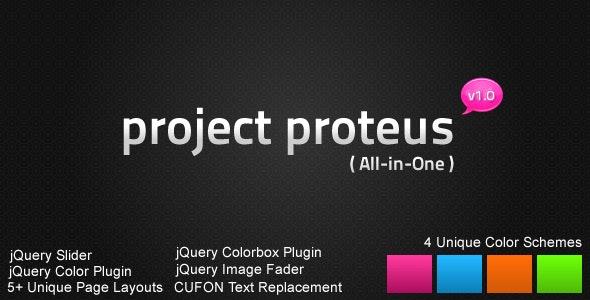 Project Proteus Portfolio / Business HTML Design - Creative Site Templates