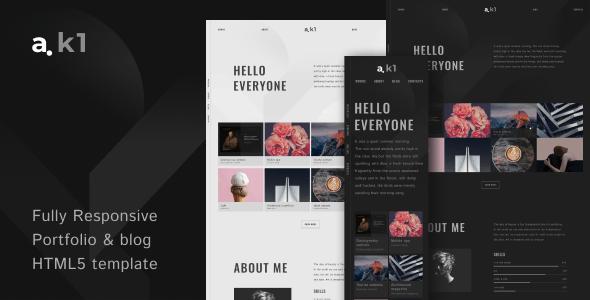 a.k1 - Creative Portfolio & Blog HTML5 Template - Portfolio Creative