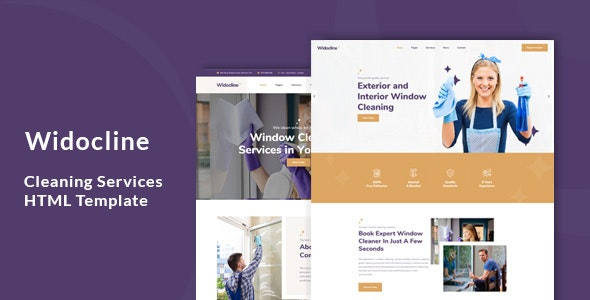 Widocline - Professional Window Cleaning Services HTML Template - Business Corporate