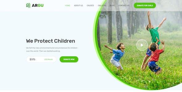 ARGU - Charity PSD Template