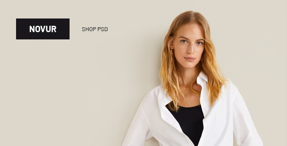 Novur - Shop PSD Template - Fashion Retail