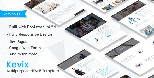 Kevix - Responsive Multipurpose Template - Corporate Site Templates