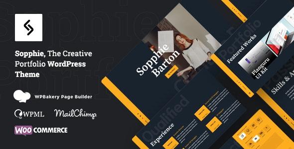 Sopphie - Creative Responsive Personal  WordPress Theme - Portfolio Creative