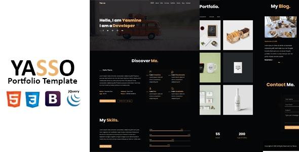 Yasso-Personal One Page Portfolio - Portfolio Creative
