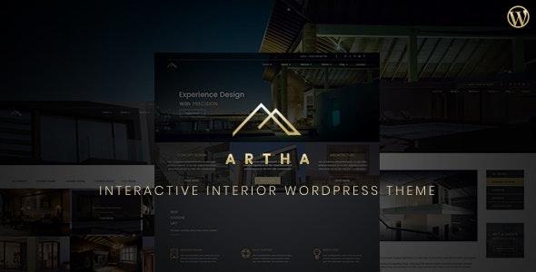 Artha Interactive Interior WordPress Theme - Business Corporate