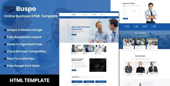 Buspo - Online Business HTML Template - Business Corporate