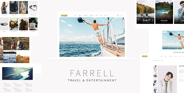 Farrell - Tourism and Entertainment PSD Template - Travel Retail