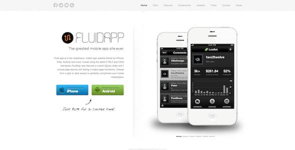 FluidApp - Responsive Mobile App Website Template