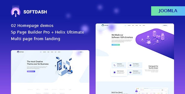 Softdash - Creative SaaS and Software Joomla Template with Page Builder - Software Technology