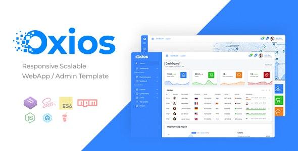 Oxios - Responsive Scalable Admin Template - Admin Templates Site Templates