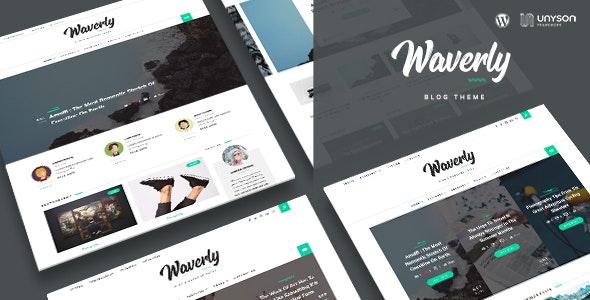 Waverly - Modern WordPress Blog Theme - Blog / Magazine WordPress