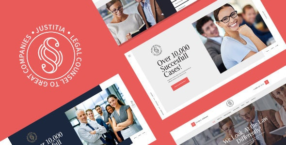 Justitia | Multiskin Lawyer & Legal Adviser WordPress Theme - Business Corporate