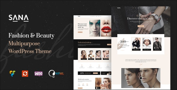 Sana - Fashion Stylist, Beauty Salon and Makeup Artist WordPress Theme - Health & Beauty Retail