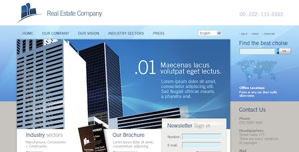 Html + CSS + jquery Real Estate theme