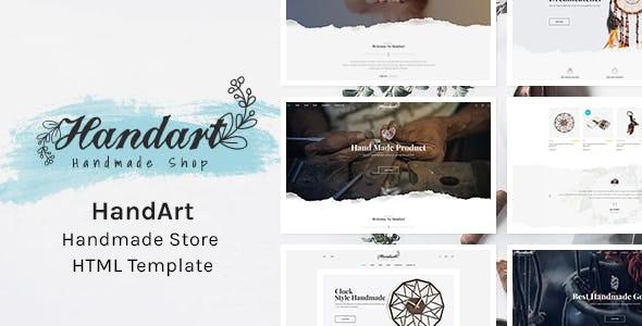 HandArt - Handmade Store HTML Template by HasTech | ThemeForest