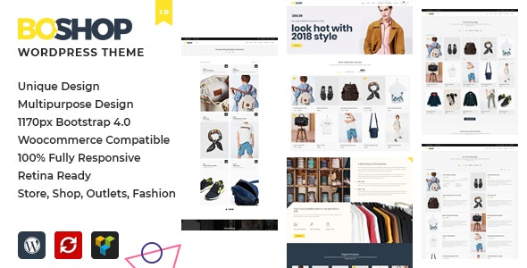 BoShop - Multipurpose eCommerce WordPress Theme - Retail WordPress