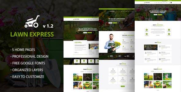 LawnExpress : Lawn, Gardening & Landscape PSD Template