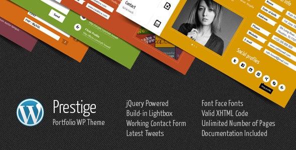 Prestige - Portfolio WordPress Theme - Portfolio Creative