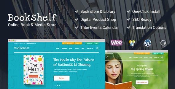 Bookshelf Books Media Online WordPress Theme Woocommerce Ecommerce