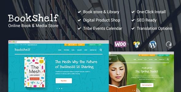 Bookshelf | Books & Media Online Store WordPress Theme - WooCommerce eCommerce