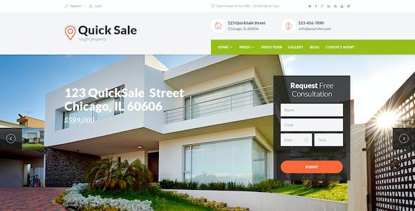 Quick Sale | Single Property Real Estate WordPress Theme