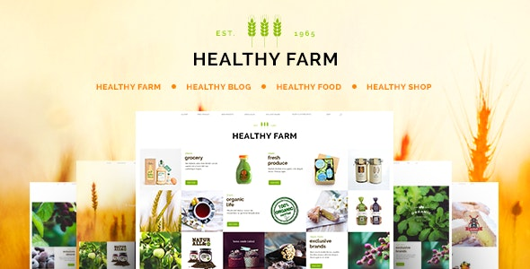 Healthy Farm | Food & Agriculture WordPress Theme - Retail WordPress