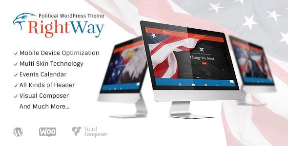 Right Way   Political WordPress Theme - Political Nonprofit
