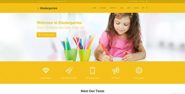 Kindergarten | Day Care & Children School Education WordPress Theme